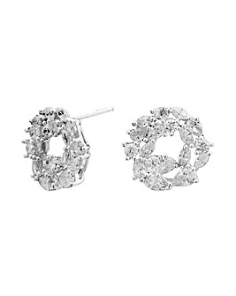 Simply Silver Marquise Cluster Earrings