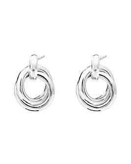 Simply Silver Open Stud Drop Earrings