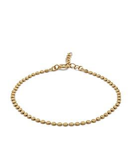 Simply Silver Flat Bead Bracelet