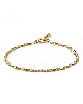14ct Gold Plated Sterling Silver Diamond Cut Snake Bracelet