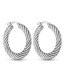 Simply Silver Creole Hoop Earrings
