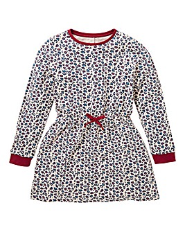 KD Girls Animal Print Sweat Dress