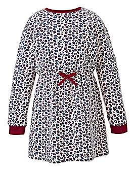 KD Girls Animal Print Sweat Dress
