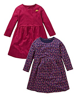 KD Girls Pack of Two Skater Dresses