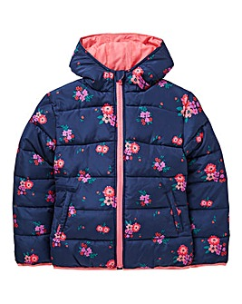KD Girls Floral Padded Winter Jacket