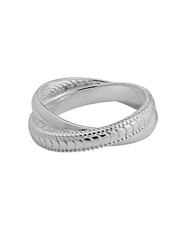 Simply Silver Polished & Texture Ring