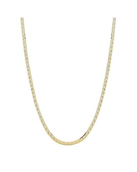 14ct Gold Plated Sterling Silver 925 Diamond Cut Snake Allway
