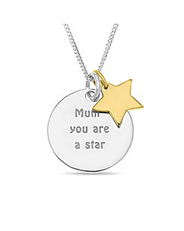 Sterling Silver Gold Plated Mum Pendant
