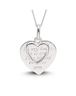 Sterling Silver Heart Charm Pendant