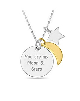 Sterling Silver Message Charm Pendant