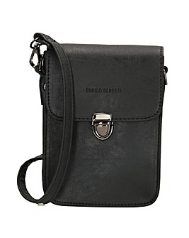 Enrico Benetti Nunes Faux Leather Small Half Flap Belt Bag