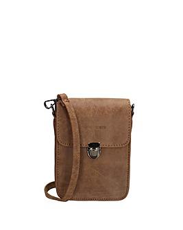 Enrico Benetti Nunes Faux Leather Small Half Flap Belt Bag