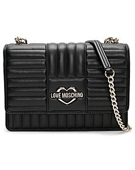 Love Moschino Stripe Quilt Shoulder Bag