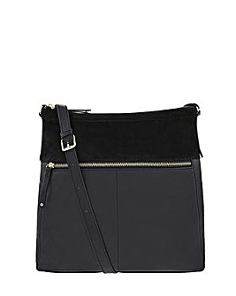 Accessorize Leather Messenger Cross Body