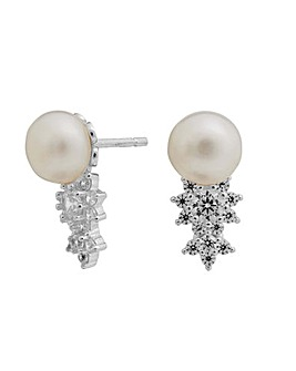 Simply Silver Pearl Stud Earrings