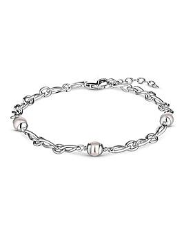 Simply Silver Infinity & Pearl Bracelet