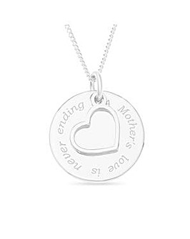 Sterling Silver Mum Message Pendant