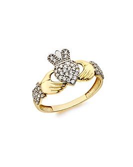 9 Carat Gold Claddah Ring