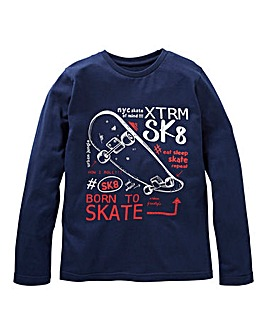 KD Boys Long Sleeve Skateboard T-Shirt