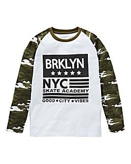 KD Boys L/S Camo Raglan T-Shirt