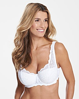 Playtex Flower Lace Padded Balcony Bra