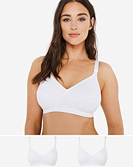 Playtex 2Pack White/White Support Comfort Bras