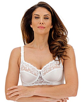 Miss Mary Rose Embroidered White Bra