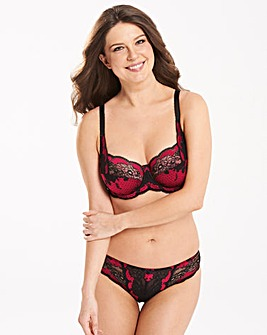 Panache Clara Black/Ruby Full Cup Bra