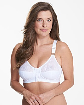 Glamorise Comfort Lift White Back Support Bra