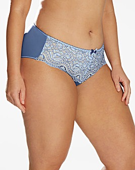 Playtex Flower Lace Blue Briefs