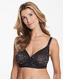 Playtex Ideal Beauty Lace Non Wired Black/ Grey Bra