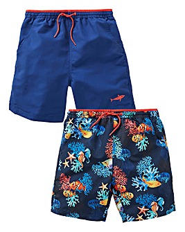 KD Boys Pack of Two Swimshorts