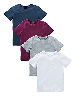 KD Boys Pack of 4 Basic T-Shirts