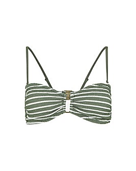 Accessorize Stripe Bandeau Bikini Top