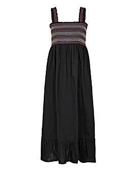 Accessorize Smocked Midi Dress