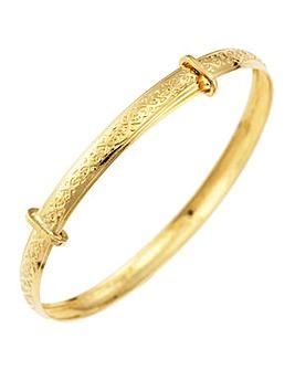 9ct Gold Celtic Flower Expander Bangle