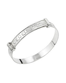 Silver Teddy Design Expander Bangle