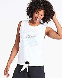 Skechers Zen Jersey Tie Front Vest Top