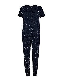 Accessorize Star Print Long Pyjama Set
