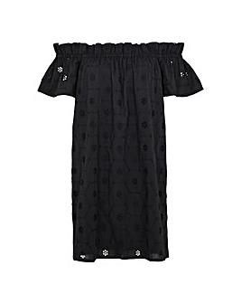 Accessorize Schiffli Bardot Dress