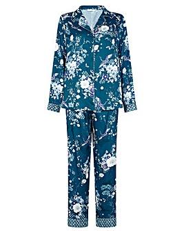 Monsoon Floral Satin Pyjama Set