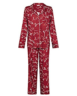 Monsoon Love Print Jersey Pyjama Set