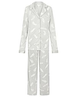 Monsoon Feather Print Jersey PJ Set