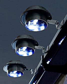 3 Stainless Steel Solar Gutter Lights