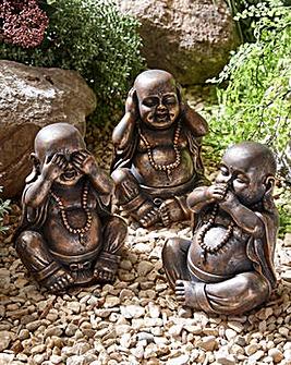 Set of 3 Buddhas