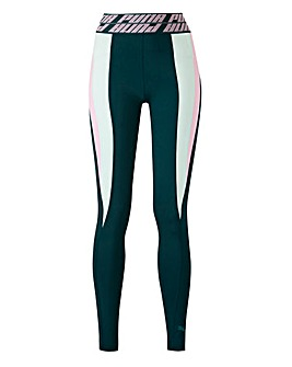 Puma Ladies Green Own It Full Tights