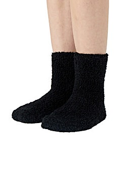 Fluffy Borg Ankle Sock Twinset