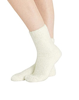 Fluffy Chenille Ankle Sock Twinset