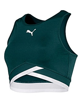Puma Ladies Green Soft Sport Crop Top