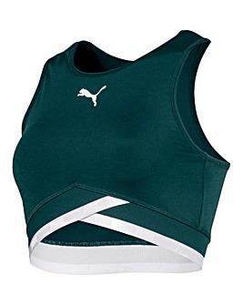 Puma Ladies Green Soft Sport Crop Top